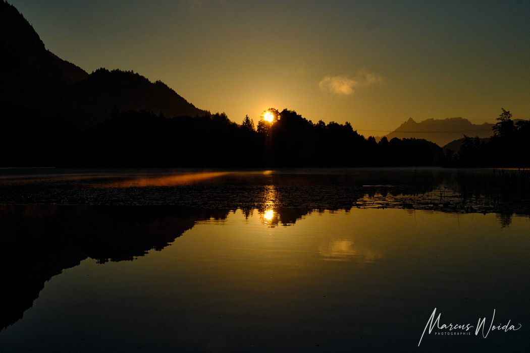 Sonnenaufgang am Reintaler See