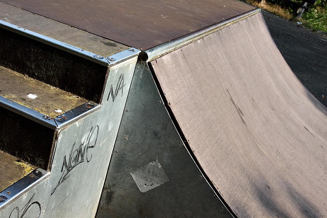 Rampe im Skatepark